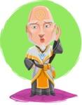 Wizard with Robe Cartoon Vector Character AKA Griffith - Shape 11