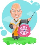 Wizard with Robe Cartoon Vector Character AKA Griffith - Shape 12