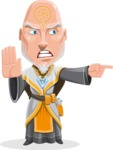 Wizard with Robe Cartoon Vector Character AKA Griffith - Direct Attention 2