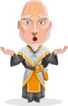 Wizard with Robe Cartoon Vector Character AKA Griffith - Shocked