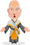 Wizard with Robe Cartoon Vector Character AKA Griffith - Lost