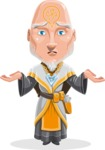 Wizard with Robe Cartoon Vector Character AKA Griffith - Confused