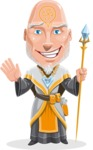 Wizard with Robe Cartoon Vector Character AKA Griffith - Hello