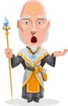 Wizard with Robe Cartoon Vector Character AKA Griffith - Bored 2