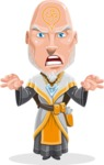 Wizard with Robe Cartoon Vector Character AKA Griffith - Scary