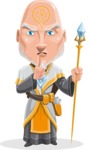 Wizard with Robe Cartoon Vector Character AKA Griffith - Quiet