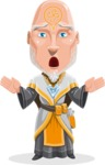 Wizard with Robe Cartoon Vector Character AKA Griffith - Scared 2