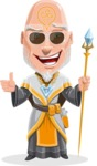 Wizard with Robe Cartoon Vector Character AKA Griffith - Sunglasses