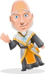Wizard with Robe Cartoon Vector Character AKA Griffith - Wave