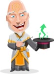Wizard with Robe Cartoon Vector Character AKA Griffith - Statistics