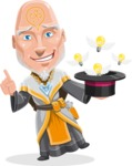 Wizard with Robe Cartoon Vector Character AKA Griffith - Idea