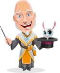 Wizard with Robe Cartoon Vector Character AKA Griffith - Bunny