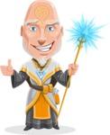 Wizard with Robe Cartoon Vector Character AKA Griffith - Magic 2