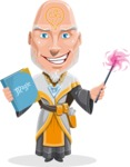 Wizard with Robe Cartoon Vector Character AKA Griffith - Magic 4
