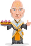Wizard with Robe Cartoon Vector Character AKA Griffith - Cookies