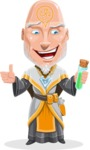 Wizard with Robe Cartoon Vector Character AKA Griffith - Decoction 2