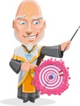 Wizard with Robe Cartoon Vector Character AKA Griffith - Target