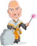 Wizard with Robe Cartoon Vector Character AKA Griffith - Grave