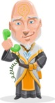 Wizard with Robe Cartoon Vector Character AKA Griffith - Support