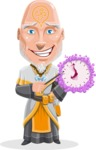 Wizard with Robe Cartoon Vector Character AKA Griffith - Time