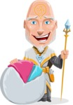 Wizard with Robe Cartoon Vector Character AKA Griffith - Chart