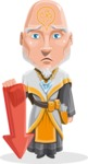Wizard with Robe Cartoon Vector Character AKA Griffith - Arrow 3
