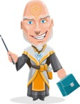Wizard with Robe Cartoon Vector Character AKA Griffith - Briefcase