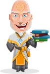 Wizard with Robe Cartoon Vector Character AKA Griffith - Magic Books