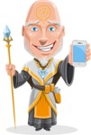 Wizard with Robe Cartoon Vector Character AKA Griffith - iPhone
