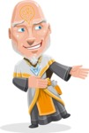 Wizard with Robe Cartoon Vector Character AKA Griffith - Show 2