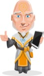Wizard with Robe Cartoon Vector Character AKA Griffith - Tablet 3