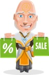 Wizard with Robe Cartoon Vector Character AKA Griffith - Sale 1