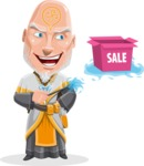 Wizard with Robe Cartoon Vector Character AKA Griffith - Sale 2