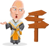 Wizard with Robe Cartoon Vector Character AKA Griffith - Crossroad