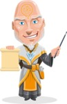 Wizard with Robe Cartoon Vector Character AKA Griffith - Sign 2