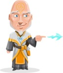 Wizard with Robe Cartoon Vector Character AKA Griffith - Point 1
