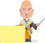 Wizard with Robe Cartoon Vector Character AKA Griffith - Sign 6