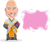 Wizard with Robe Cartoon Vector Character AKA Griffith - Sign 8