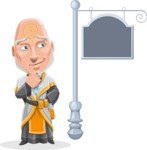 Wizard with Robe Cartoon Vector Character AKA Griffith - Street Sign