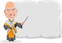 Wizard with Robe Cartoon Vector Character AKA Griffith - Presentation 1