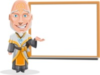 Wizard with Robe Cartoon Vector Character AKA Griffith - Presentation 2
