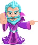 Fantasy Wizard Cartoon Vector Character AKA Dougal the Warlock - Direct Attention 1