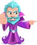 Fantasy Wizard Cartoon Vector Character AKA Dougal the Warlock - Direct Attention 2