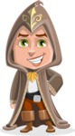 Young Wizard Boy Cartoon Vector Character AKA Ezra the Mage - Normal