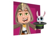 Young Wizard Boy Cartoon Vector Character AKA Ezra the Mage - Shape 3