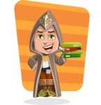 Young Wizard Boy Cartoon Vector Character AKA Ezra the Mage - Shape 5