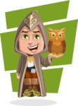 Young Wizard Boy Cartoon Vector Character AKA Ezra the Mage - Shape 6