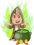 Young Wizard Boy Cartoon Vector Character AKA Ezra the Mage - Shape 7