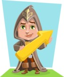 Young Wizard Boy Cartoon Vector Character AKA Ezra the Mage - Shape 12