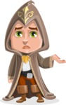 Young Wizard Boy Cartoon Vector Character AKA Ezra the Mage - Sorry